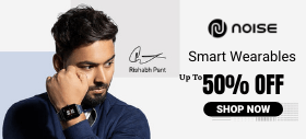 Buy Noise Colorfit Smartwatch & Save 50% + Extra Rs.200 OFF